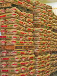 低温倉庫内の玄米